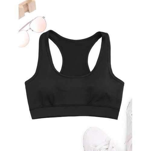 Racerback Athletic Bra - Black 2xl