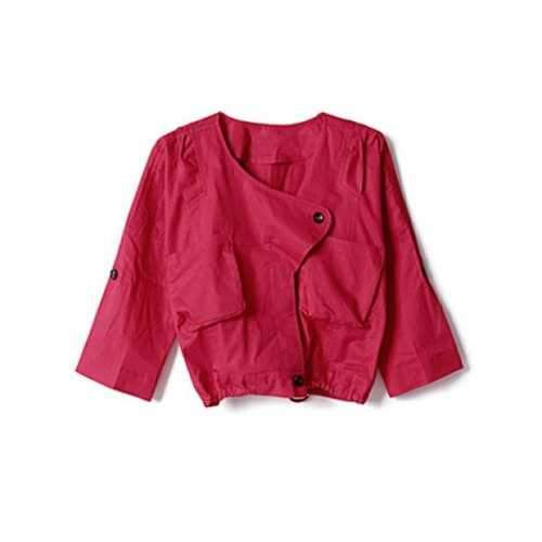 Lovely Short Coat For Women - Red M