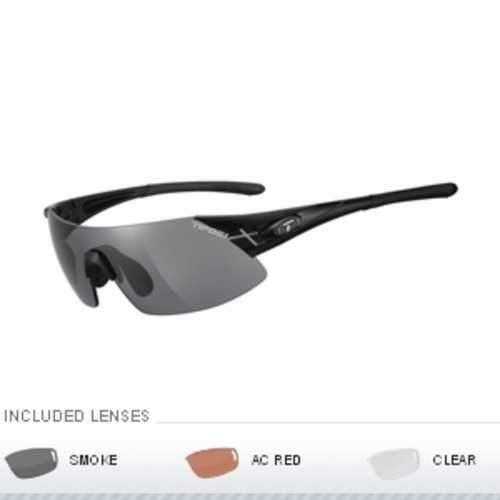 Tifosi Podium XC Asian Fit Interchangeable Sunglasses - Matte Black