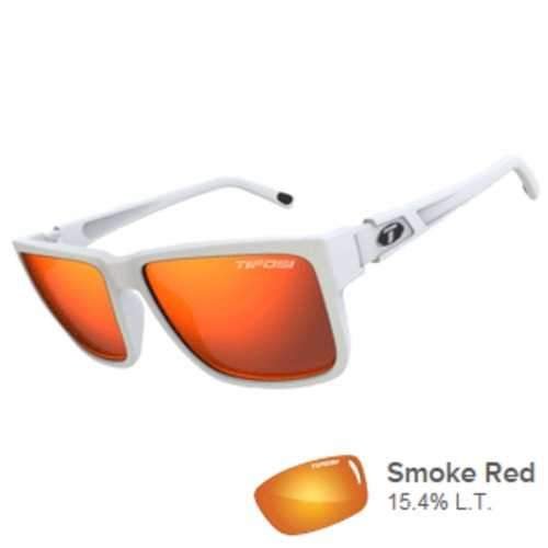 Tifosi Hagen XL Smoke Red Lens Sunglasses - Matte White