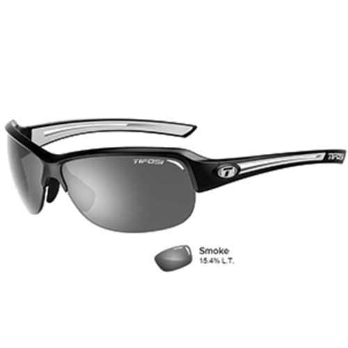 Tifosi Mira Black/White Single Lens Sunglasses - Smoke