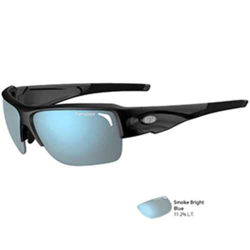 Tifosi Elder SL Gloss Black Sunglasses - Smoke Bright Blue