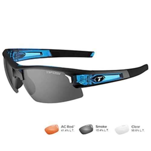 Tifosi Synapse Crystal Blue Sunglasses - Smoke/AC Red™/Clear