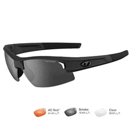 Tifosi Synapse Matte Black Sunglasses - Smoke/AC Red™/Clear