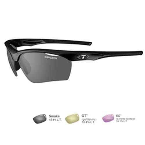 Tifosi Vero Gloss Black Sunglasses - Smoke/GT™/E??C™