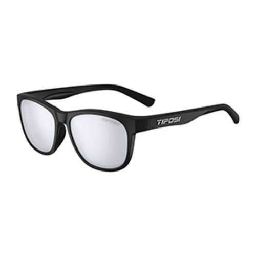 Tifosi Swank Satin Black Sunglasses - Smoke Bright Blue