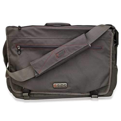 ECBC Trident Messenger Bag w/Adjustable Shoulder Strap (Gray) - Fits Up To 14 Notebooks