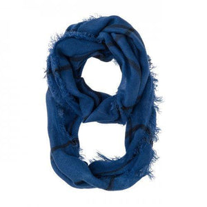 Tori Blue Plaid Infinity Scarf (pack of 1 ea)