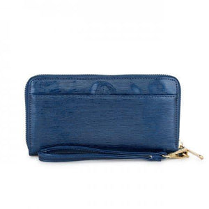 Kate Navy Faux Textured Leather Clutch (pack of 1 ea)