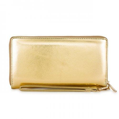 Martha Gold Faux Leather Clutch (pack of 1 ea)