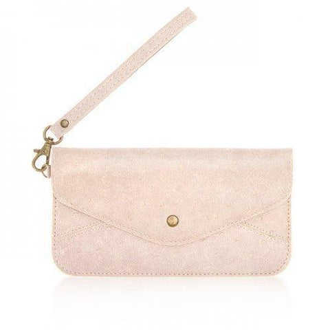 Nyla Blush Faux Leather Clutch (pack of 1 ea)