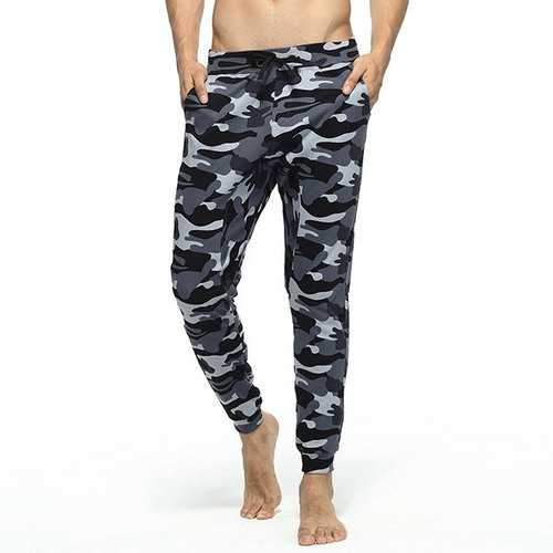 Cotton Drawstring Camouflage Casual Home Pants Jogging Sport Pants for Men