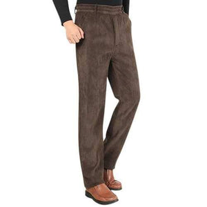 Fall Winter Warm Thick Casual Business Pants