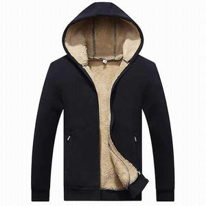 Fleece Lining Thermal Zip Up Hoodies