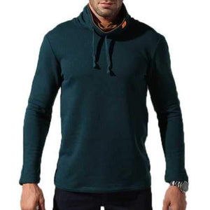 Mens Breathable High Collar Sweatshirt