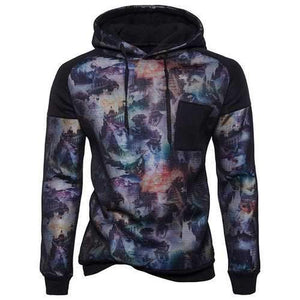 Mens 3D Print Mesh Patch Hoodies