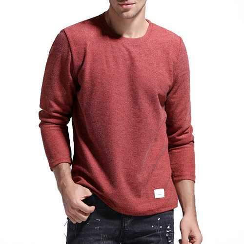 Solid Color Casual T-shirt