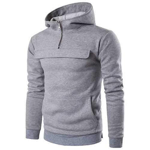 Mens Front Zipper Hoodies