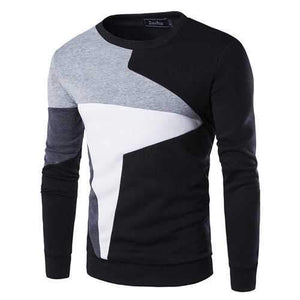 Stitching Color Casual Sport Sweatshirt