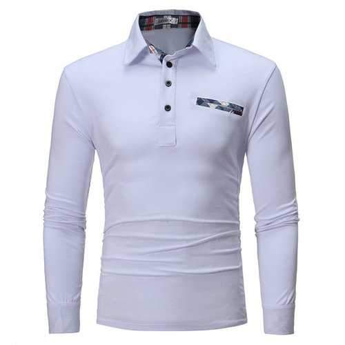 Turn-Down Collar Brief Solid Pullove Comfortable Golf Shirt