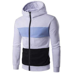 Zip Up Hit Color Hoodies