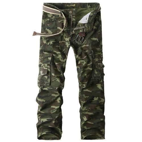 100% Cotton Camouflage Cargo Pants