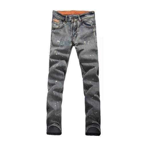 Fashionable Style Bleach Wash Straight Leg Long Jeans For Men - 5xl
