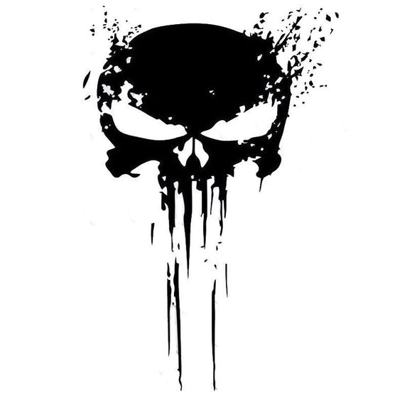 Bloody Punisher skull Decal sticker-