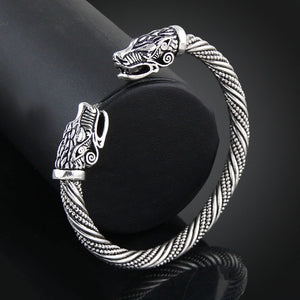 Wolf Head Viking Bracelet-
