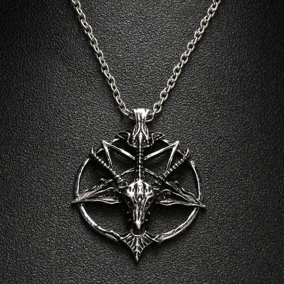 Pentagram Pan God Necklace-