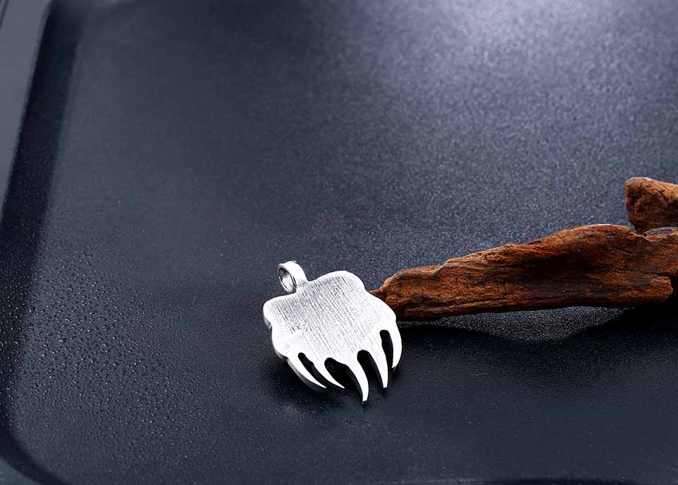 Viking Bear Claw Pendant Necklace