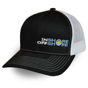 Inshore Offshore Snapback Cap in Black
