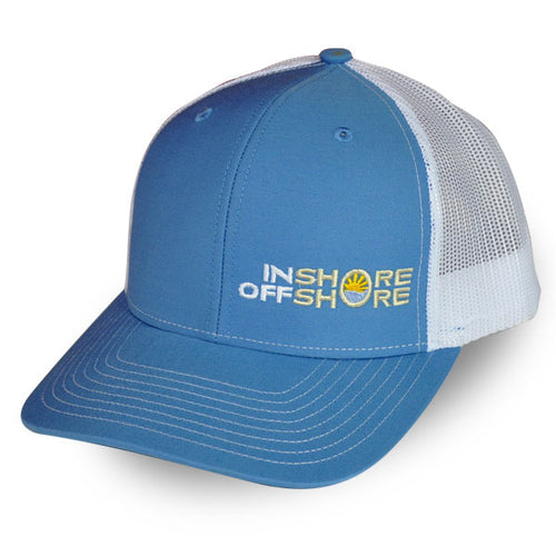 Inshore Offshore Snapback Cap in Columbia Blue