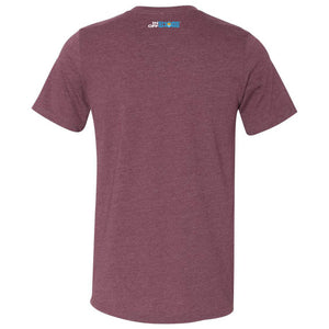 What A Googan Fishing Tshirt Heather Maroon