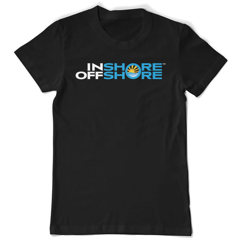 Inshore Offshore Logo Short Sleeve Tshirt - Black