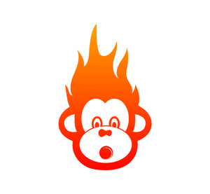 Hot Monkey Nuts monkey face logo