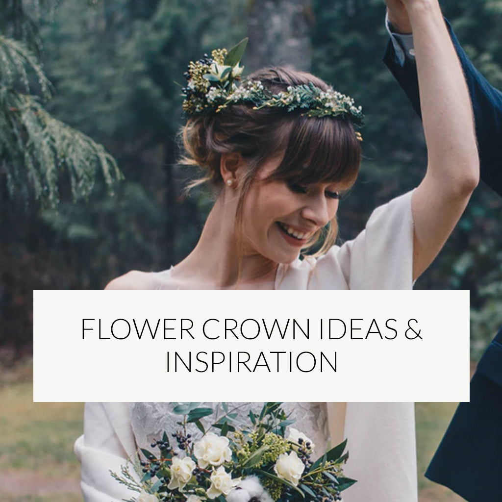 Flower crown ideas and inspiration for your Wedding