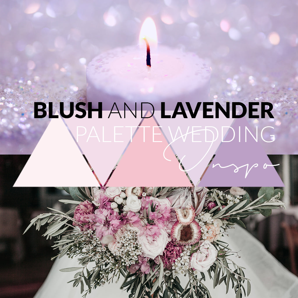 Blush and Lavender Palette Wedding Inspo