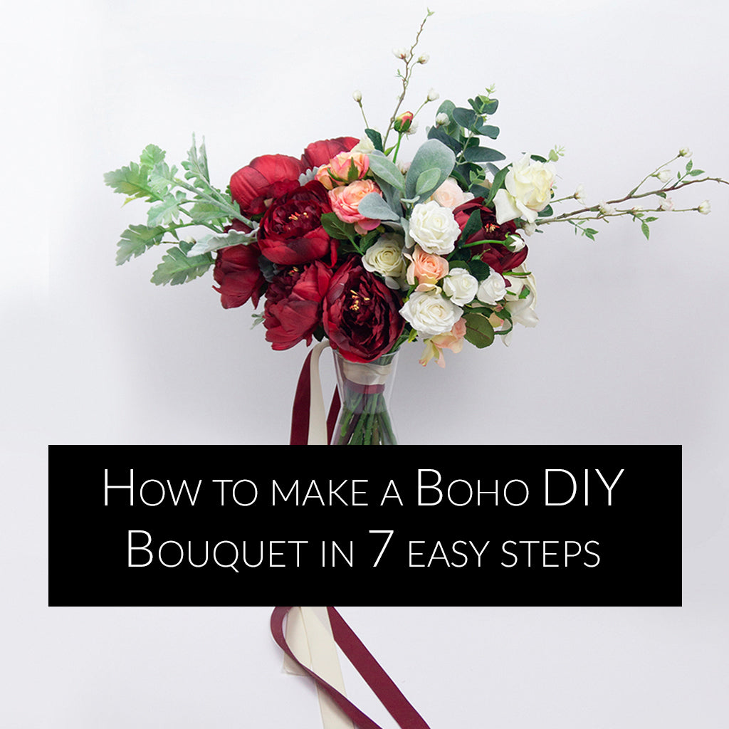 How to make a Bohemian DIY Wedding Bouquet in 7 Easy Steps