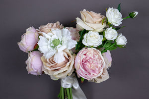 Cotton Blush Bridesmaid Bouquet