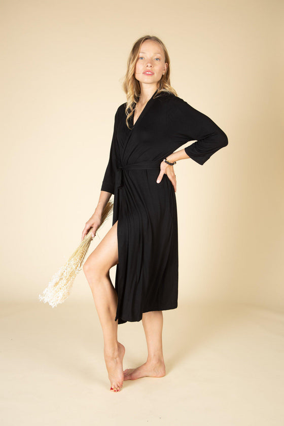 Bamboo Stretchy Cotton Robe-Nine Zen
