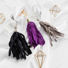 Brass Sari Silk Tassel Necklace-Nine Zen