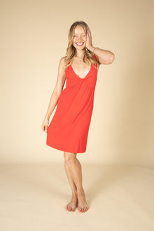 Comfy Soft Bamboo Helena Red Nightgown PJ-Nine Zen