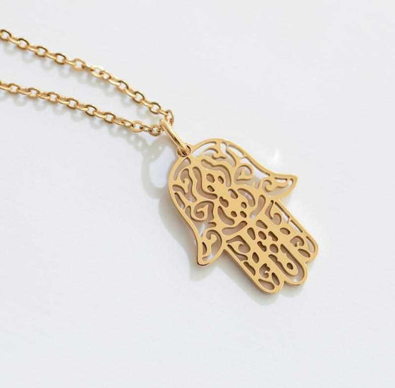Delicate Fatima Hand Hamsa Necklace-Nine Zen