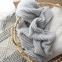 Deliciously Soft Warm Knit Throw-Nine Zen