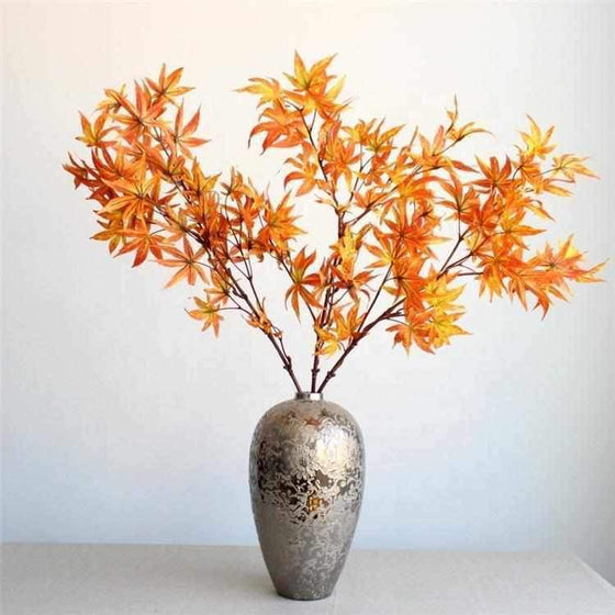 Faux Maple Leaf Stems-Nine Zen