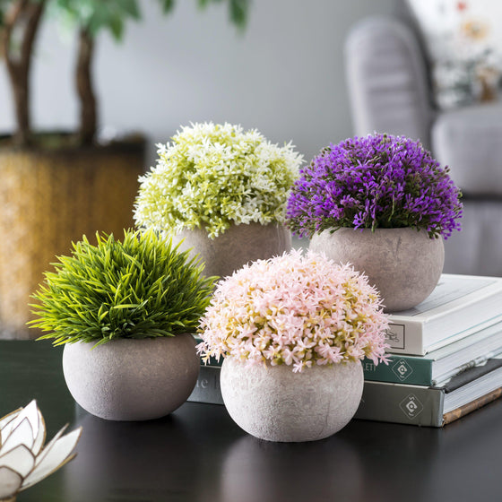 Faux Potted Plants Set-Nine Zen