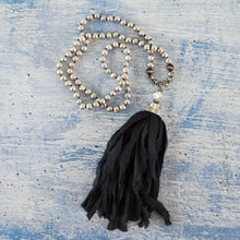 Freshwater Pearl Silk Sari Mala Necklace-Nine Zen