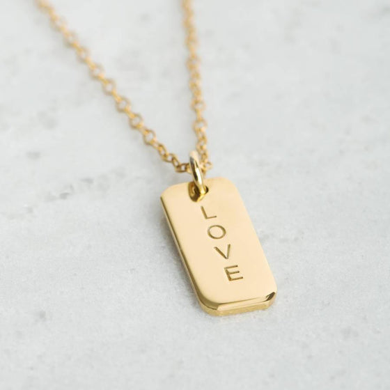 Love Tag Necklace-Nine Zen