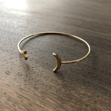 Moon & Stars Cuff Bangle Bracelet-Nine Zen